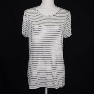 Apt 9 Black Stripe Short Sleeve T-Shirt Large